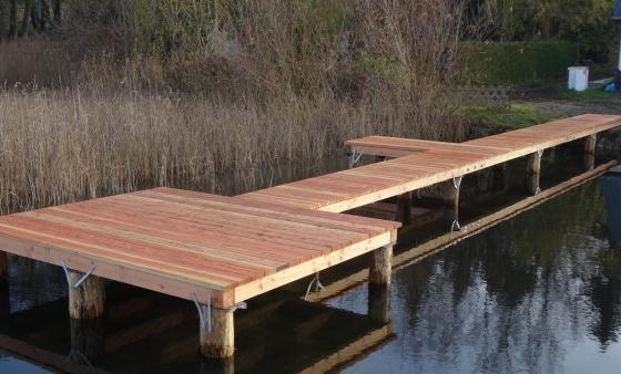 Der neu gestaltete Bootssteg