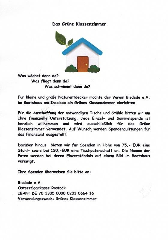 Unser Bootshaus /Grünes Klassenzimmer
